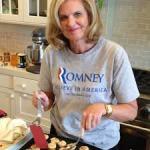 Ann Romey cooks dinner for donors