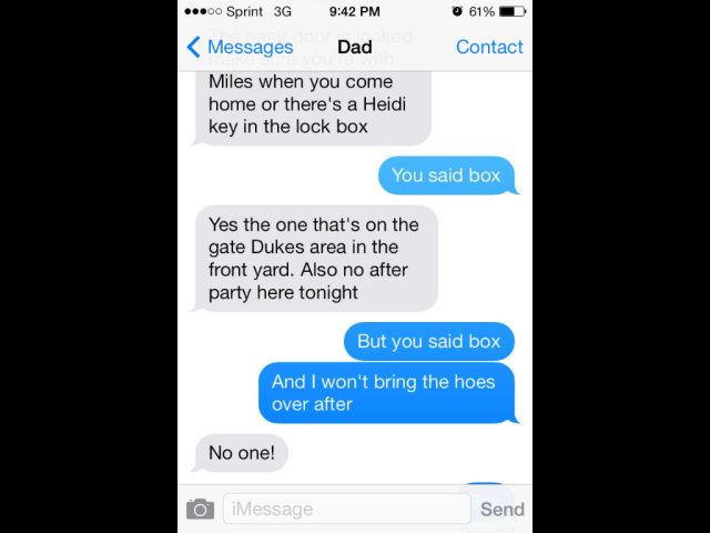 College dads - hoes