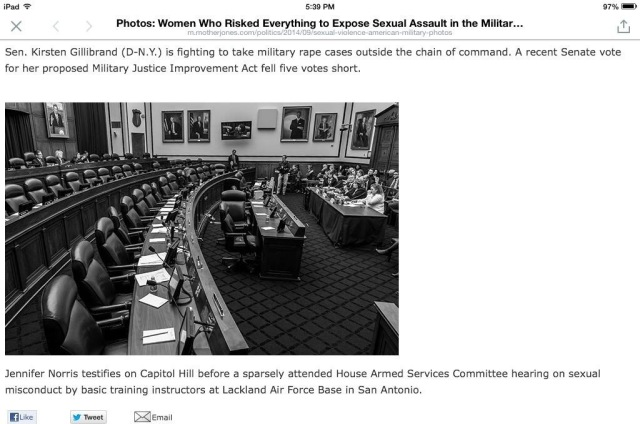Congress - Women in the military risk all