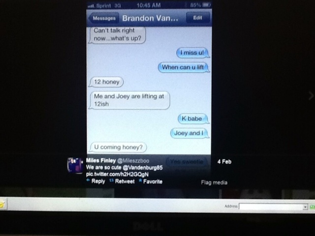 Vandenburg - Miles Finley - bro texting