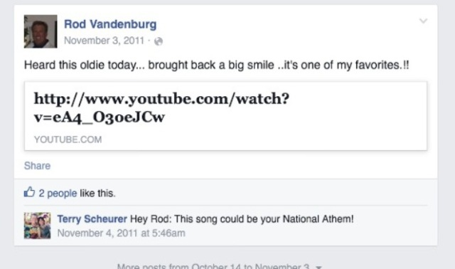 Vandenburg - Rod - Favorite song - Sexual Healing