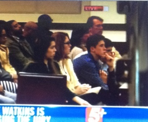 Vandenburg - Vandenburgh family paying attention during jury instructions