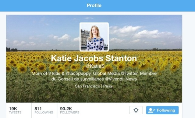 Katie Jacobs Stanton - Twitter page