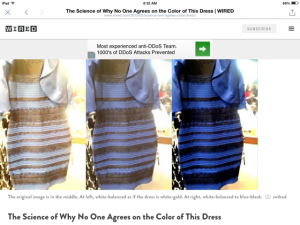 Science and dress color
