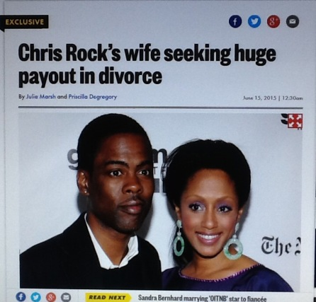 Chris Rock - divorce settlement