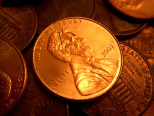 cash - penny - many - copper bright
