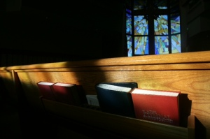Church pews - bilble