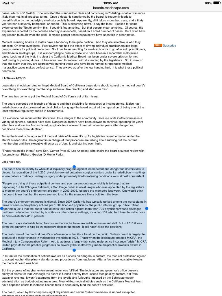Dr. Clusin - Medical Boards - LA Times