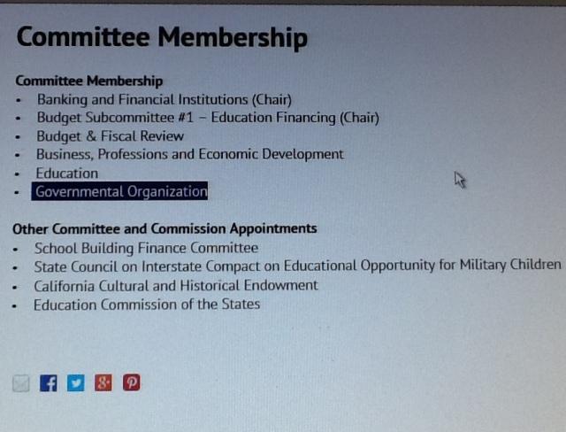 Senator Marty Block - Government Organization