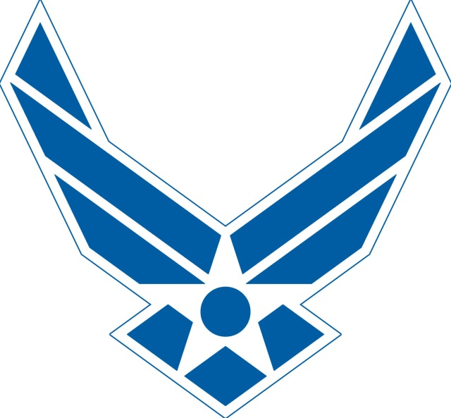 Air Force Logo - Blue with white outline, no text
