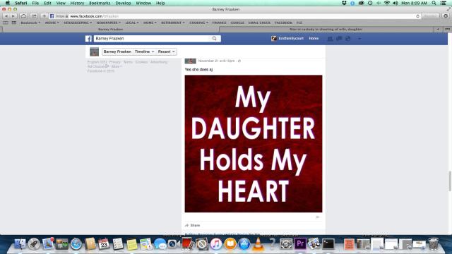 Barney Fraaken - %22My daughter holds my heart%22 - November 21, 2015