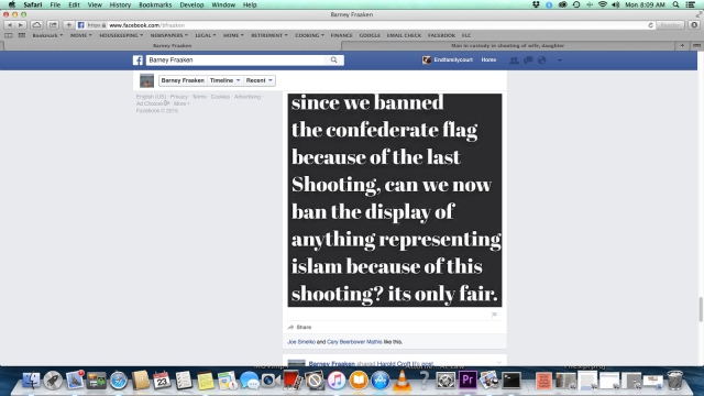 Barney Fraaken - a real terrorist - talking about Islam - November 21, 2015