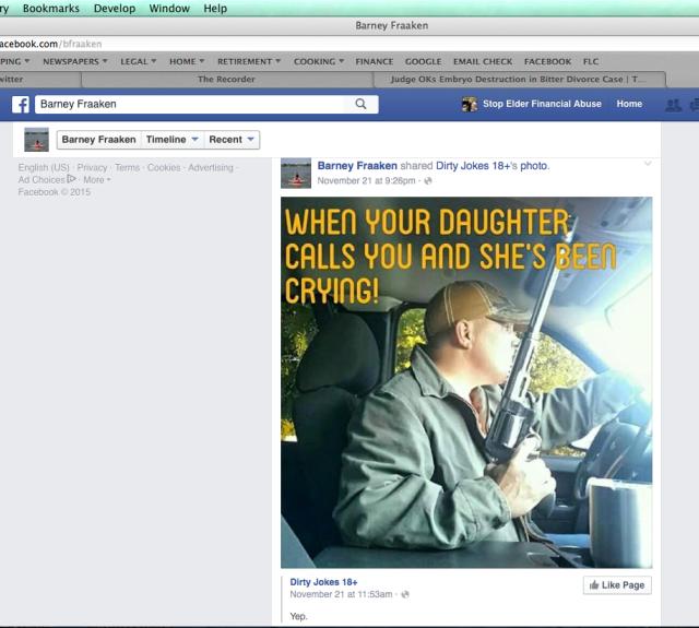 Barney Fraaken - Gun hypocrite