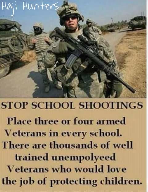 Barney Fraaken on Veterans protecting school children