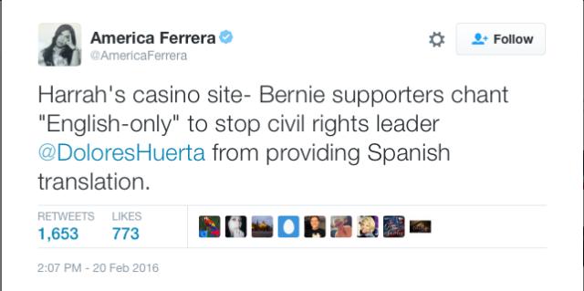 America Ferrera Caught Bernie's Bad Actors