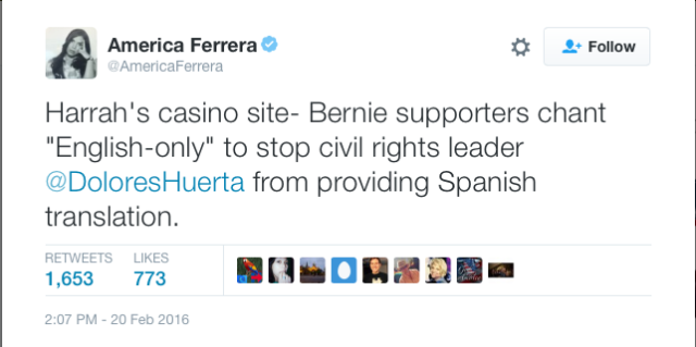 America Ferrera Caught Bernie's Bad Actors