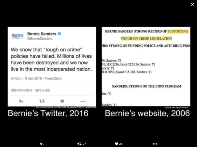 Bernie on Crime