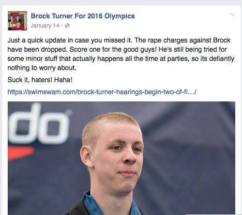 Brock Turner - Arrogant sex offender