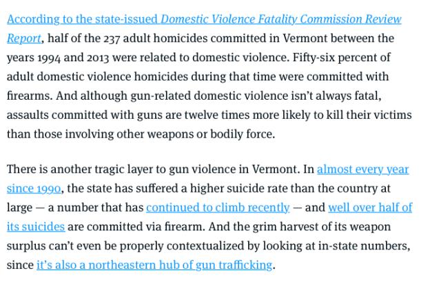 DV - Vermont - Bernie Sanders Sane Gun Safety