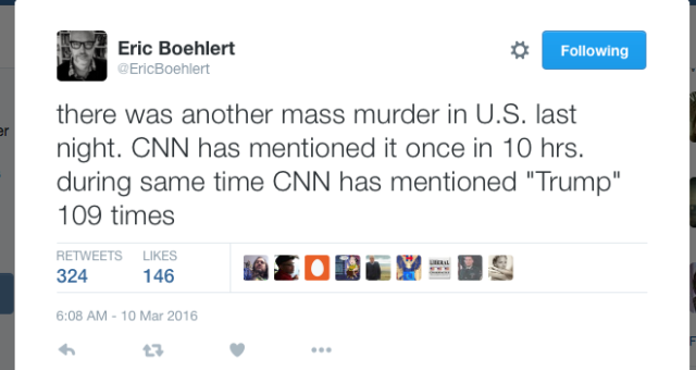 Media - Mass murder ignored for TRUMP