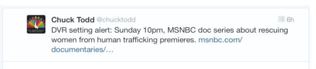 Chuck Todd - Trafficking