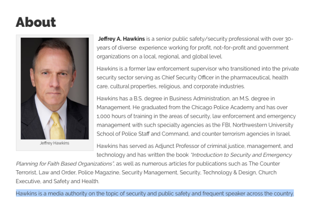 Jeffrey Hawkins - Church Security Expert and Wife Killer