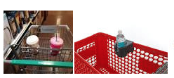 Shopping cart cupholders