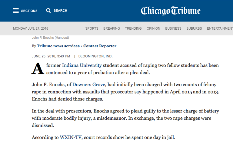 Chicago Tribune - Enochs
