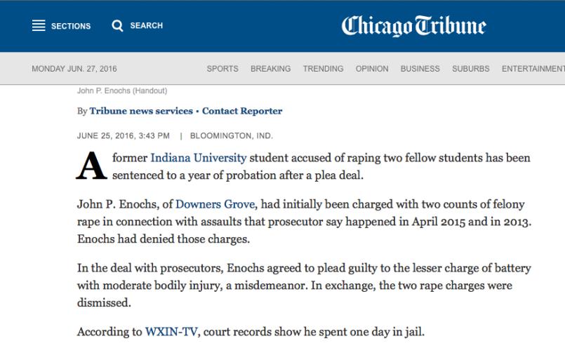 Chicago Tribune - Enochs