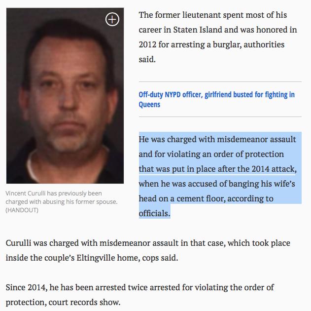 Bad Cop Vincent Curulli - multiple DV arrests