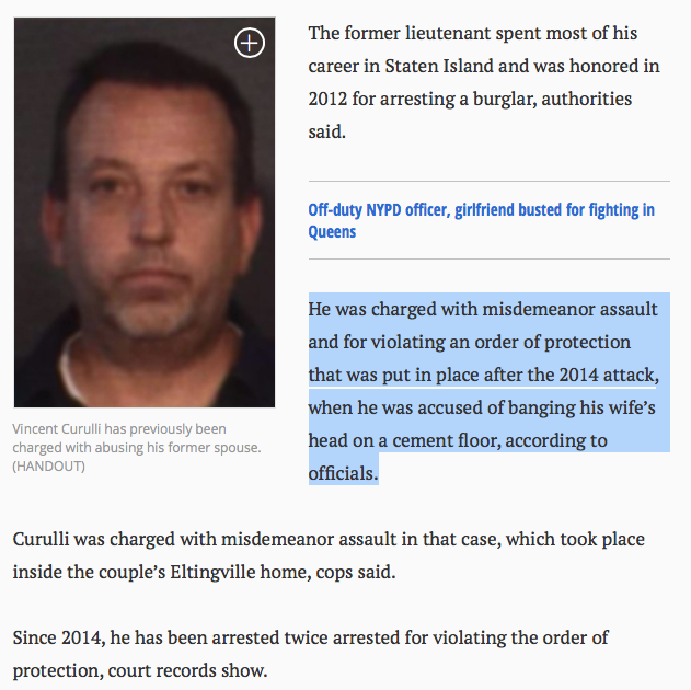 Bad Cop Vincent Curulli - multiple DV arrests