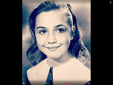 Hillary as a child
