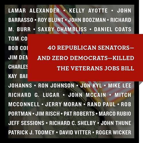 40 GOP Senators killed JOBS bill