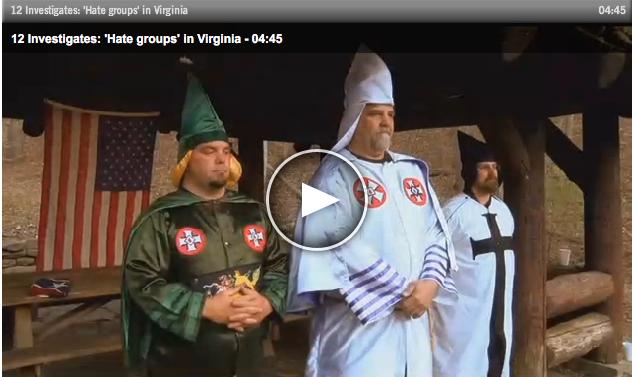 KKK wizards on TV
