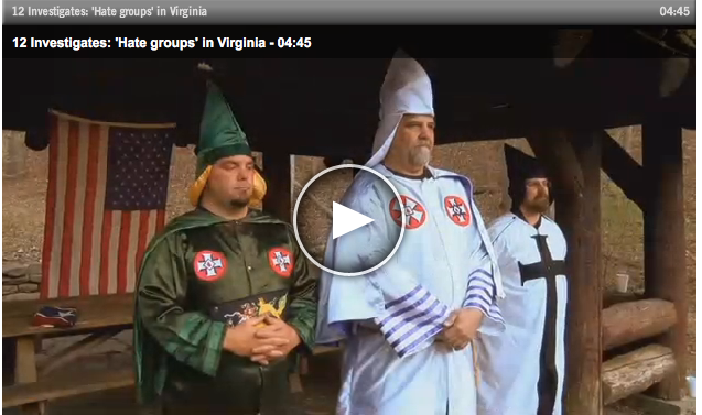KKK wizards on TV