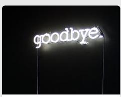 Neon light Goodbye