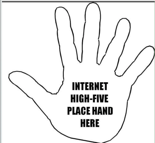 Internet high-five
