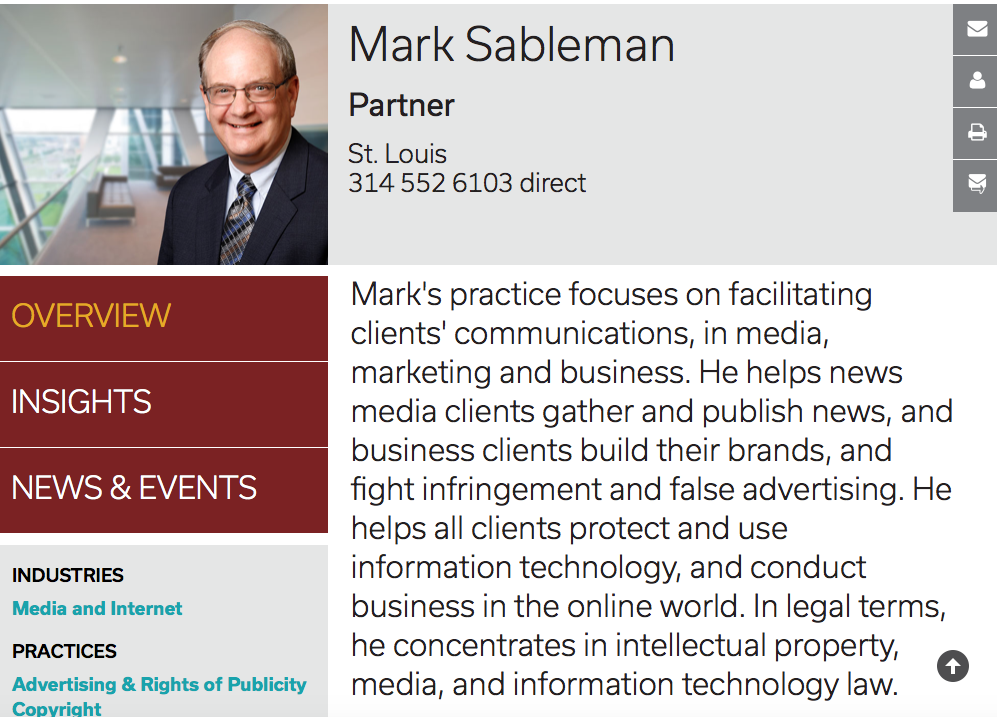 Mark Sableman - expert mediator